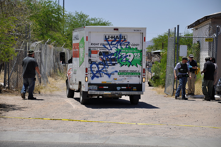 U-Haul truck drives out of investigation area
